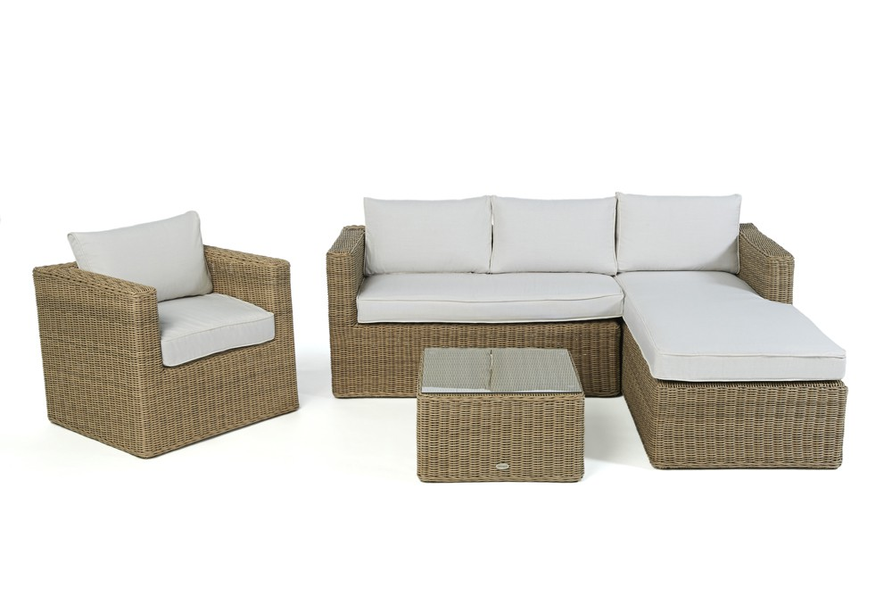 brooklyn rattan round lounge garden furniture set for. Black Bedroom Furniture Sets. Home Design Ideas