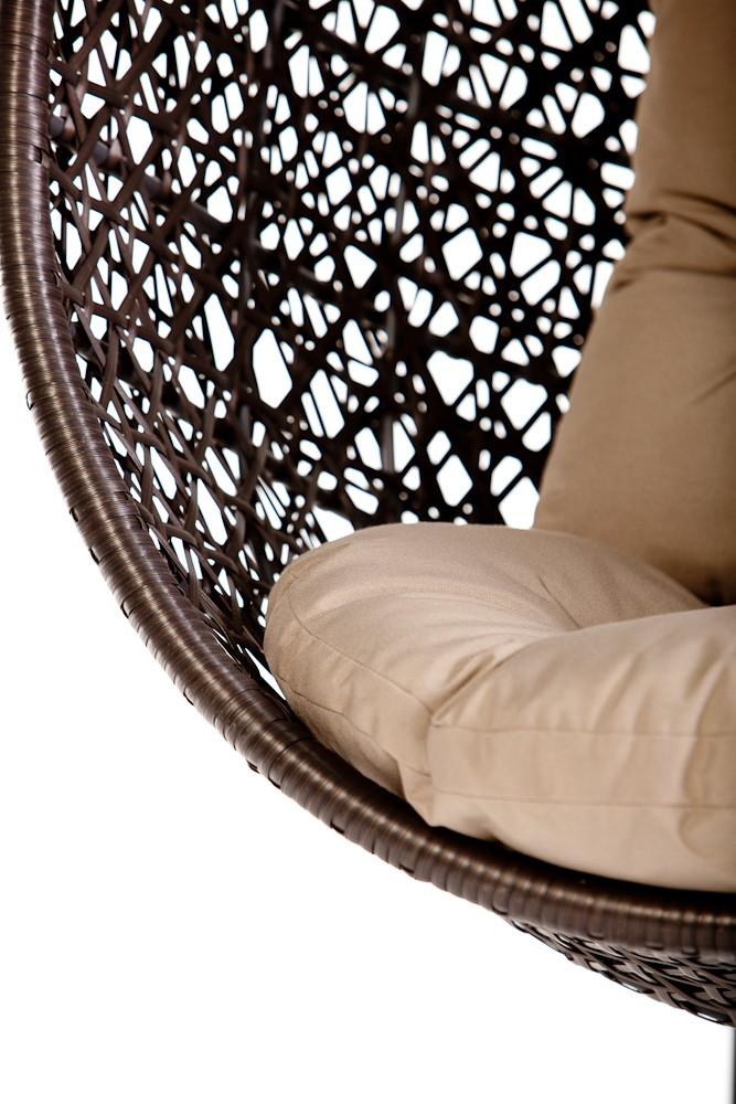 calimero hanging chair rattan brown. Black Bedroom Furniture Sets. Home Design Ideas