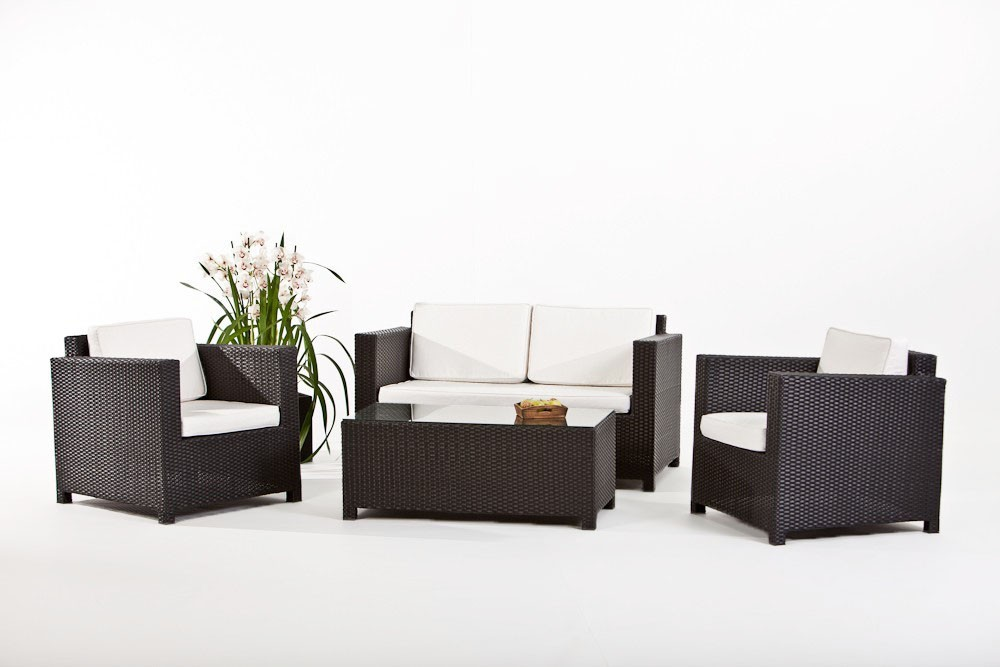 black luxury lounge rattan garden furniture for your terrace garden or balcony. Black Bedroom Furniture Sets. Home Design Ideas