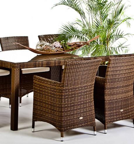 Garden Furniture Nairobi Rattan Garden Dining Set in mixed brown