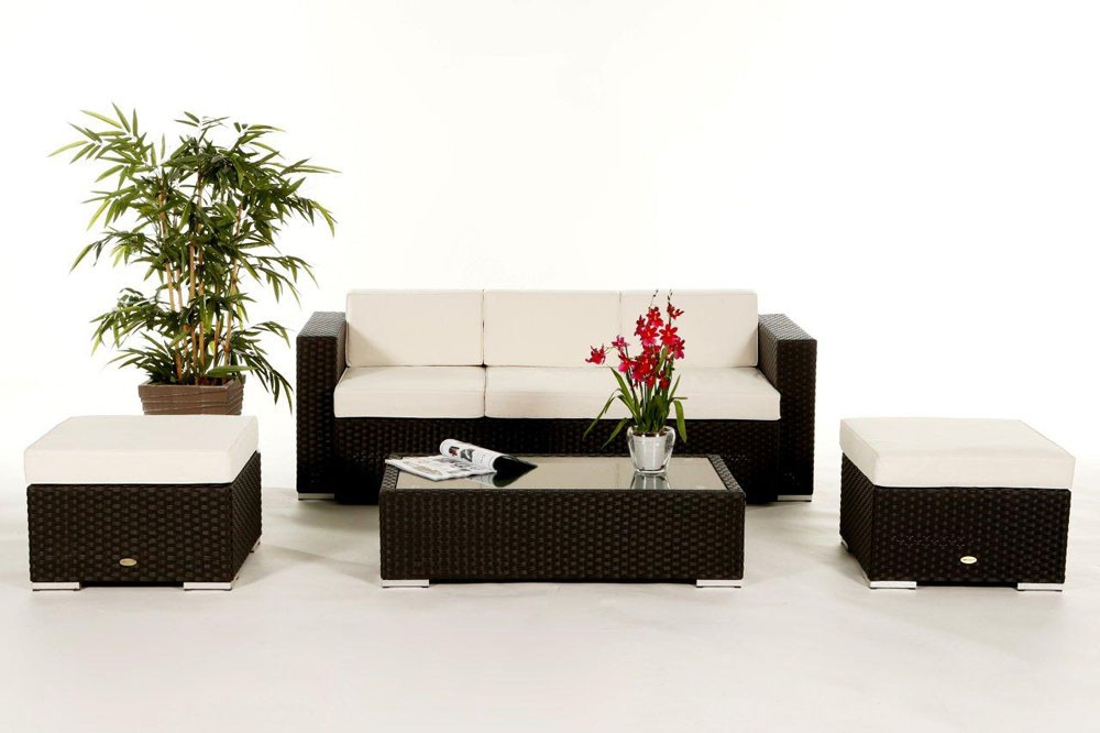 starlight rattan lounge, black- rattan garden furniture for your, Garten und Bauen
