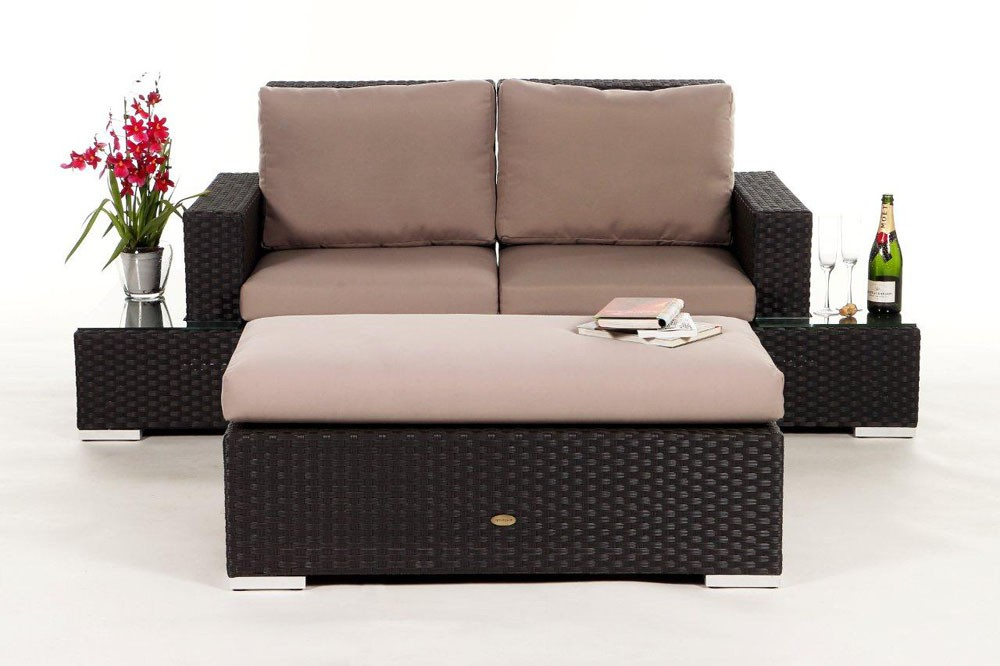 Media Luna Rattan Lounge, brown- rattan garden furniture for your ...