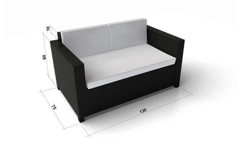 black luxury lounge rattan garden furniture for your. Black Bedroom Furniture Sets. Home Design Ideas