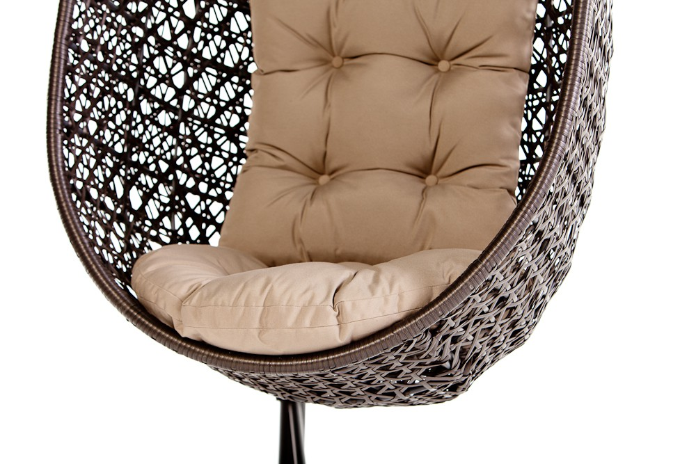 calimero hanging chair rattan brown
