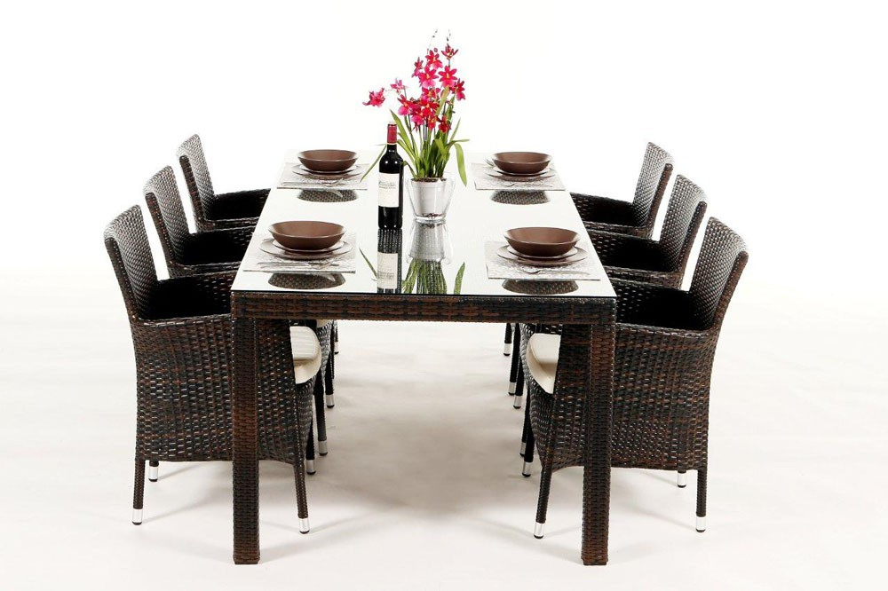 garden furniture lotus rattan garden table and chairs in. Black Bedroom Furniture Sets. Home Design Ideas