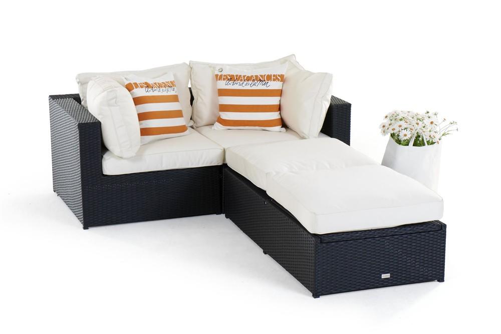 Rattan lounge schwarz  Panda Rattan Lounge, black- rattan garden furniture for your ...