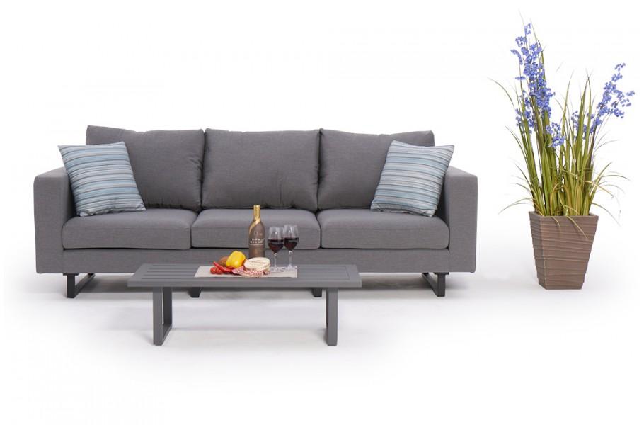 Weatherproof Garten Furniture 3 Seater Sofa Capri Grey