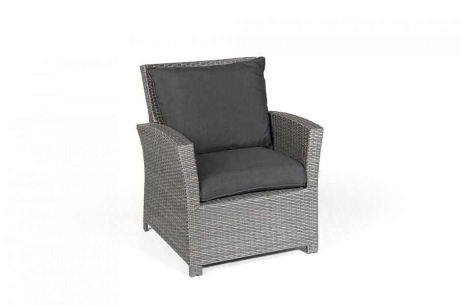 gartenmobel rattan lounge grau, ellis rattan garden furniture dining lounge armchair in mixed grey, Design ideen