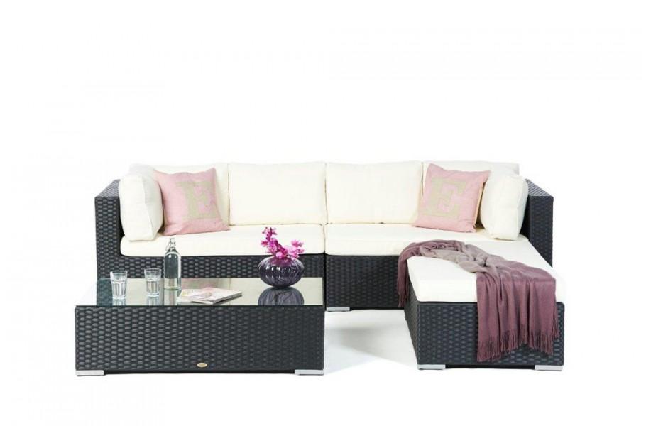 Rattan Gartenmöbel: Milano Lounge Mit Deko