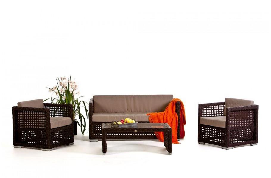 Morena Lounge: Rattan Gartenmöbel Braun
