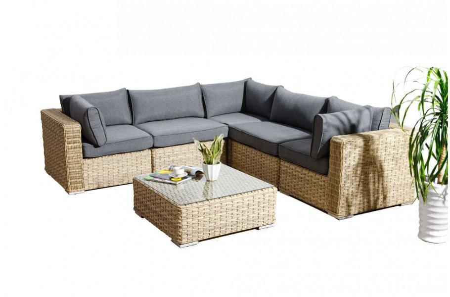 Mykonos Rattan Lounge, Light Brown - rattan garden furniture for ...