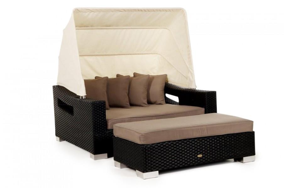 Liege Garten Rattan Style | Sandy Brown Seat Cushion Cover For Beach Rattan Lounger Garden