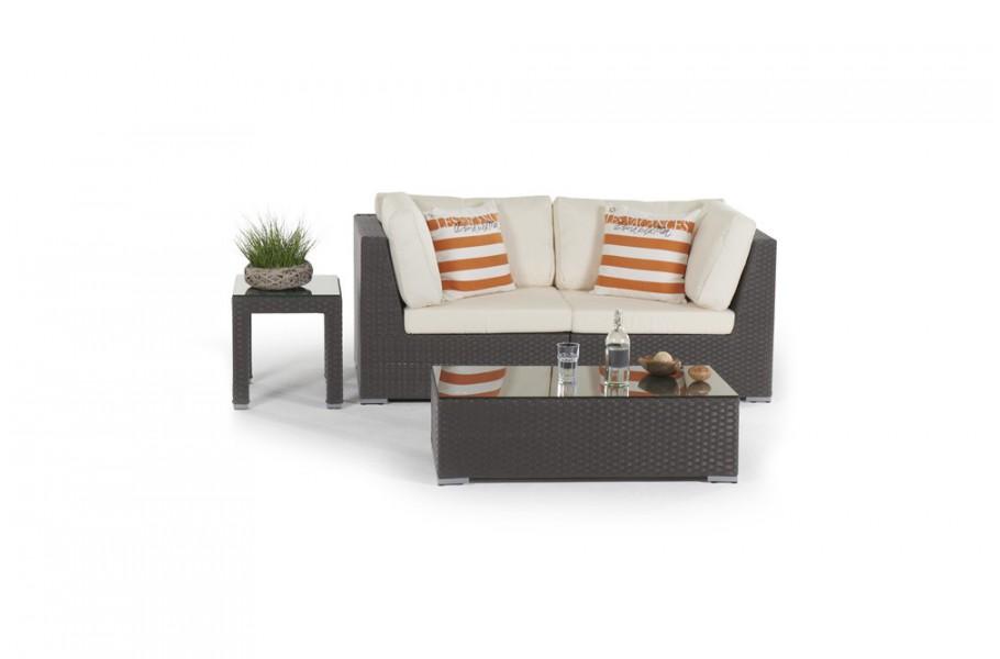 sunset rattan lounge in brown rattan garden furniture for. Black Bedroom Furniture Sets. Home Design Ideas