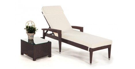 rattan liegestuhl gartenm bel sonnenliegen. Black Bedroom Furniture Sets. Home Design Ideas