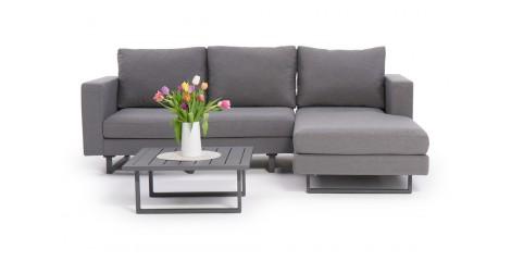 Gartenmöbel Lounge Thomson Grau Mit Blumen Deko