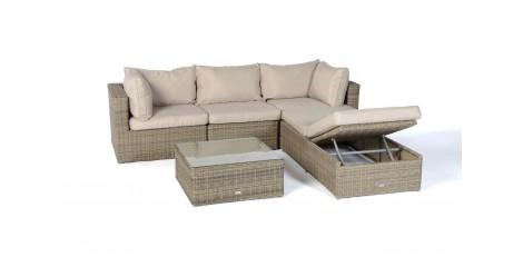 Kuala Rattan Furniture Round Lounge In Natural