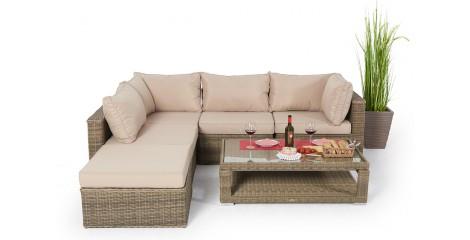 Stella Rattan Lounge In Natural Round