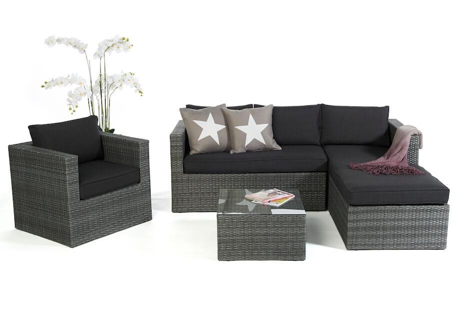 Rattan Gartenmöbel: Rattan Lounge für den Garten im Rattan ...